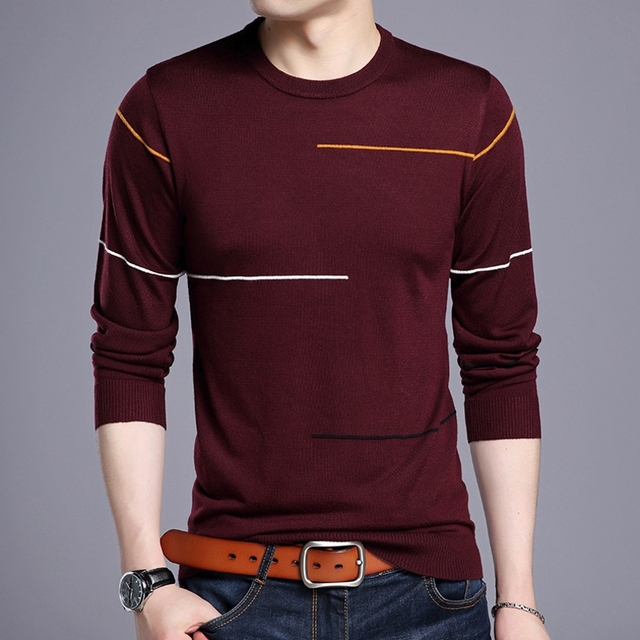 516e176ca6a US $16.01 42% OFF Cashmere Wool Sweater Men Brand Clothing Spring 2019  Fashion Autumn Winter Slim Fit Warm Sweater O Neck Jumper Pullover Male  Top-in ...