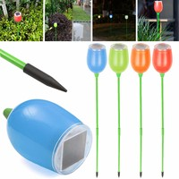 4PCS Solar Power Garden LED Lights Outdoor Garden Path Lawn Fence Lighting Lamps Households decor LED Lights
