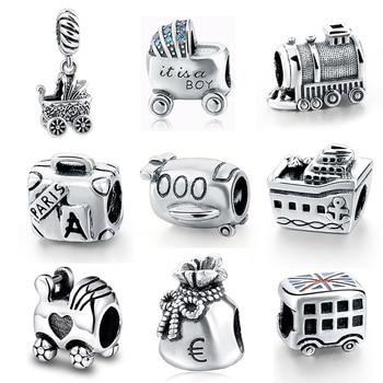 34c1884b3022 Nueva plata de ley 925 forma de onda redonda clips de bloqueo cuentas Fit  Pandora Original encanto pulsera fabricación de joyas