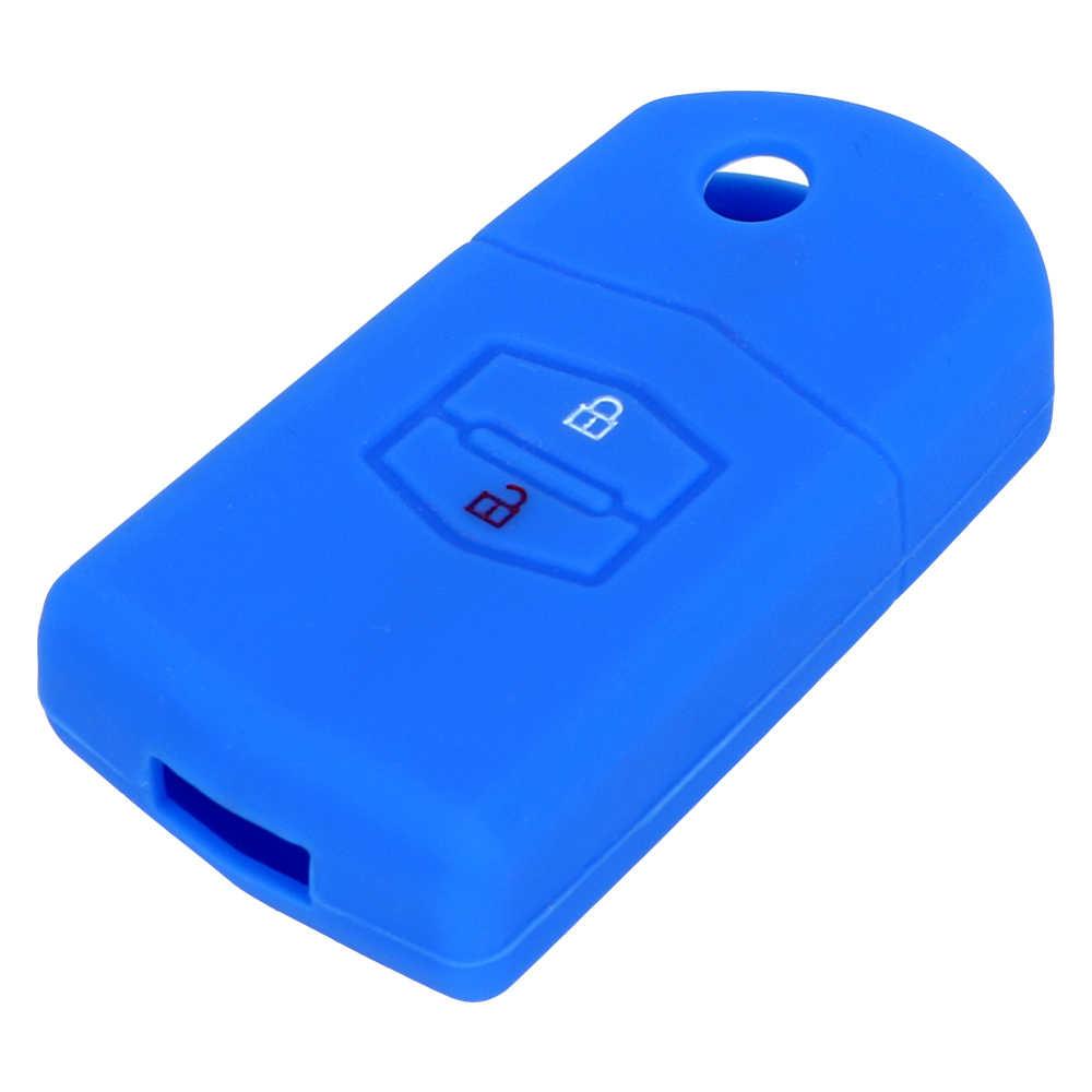 FORAUTO Car Key Case Cover Key Holder For Mazda 3 2 6 2003 2004 2005 2006 2007 2008 2009 2010 2011 2012 2013 Key Bag Protector