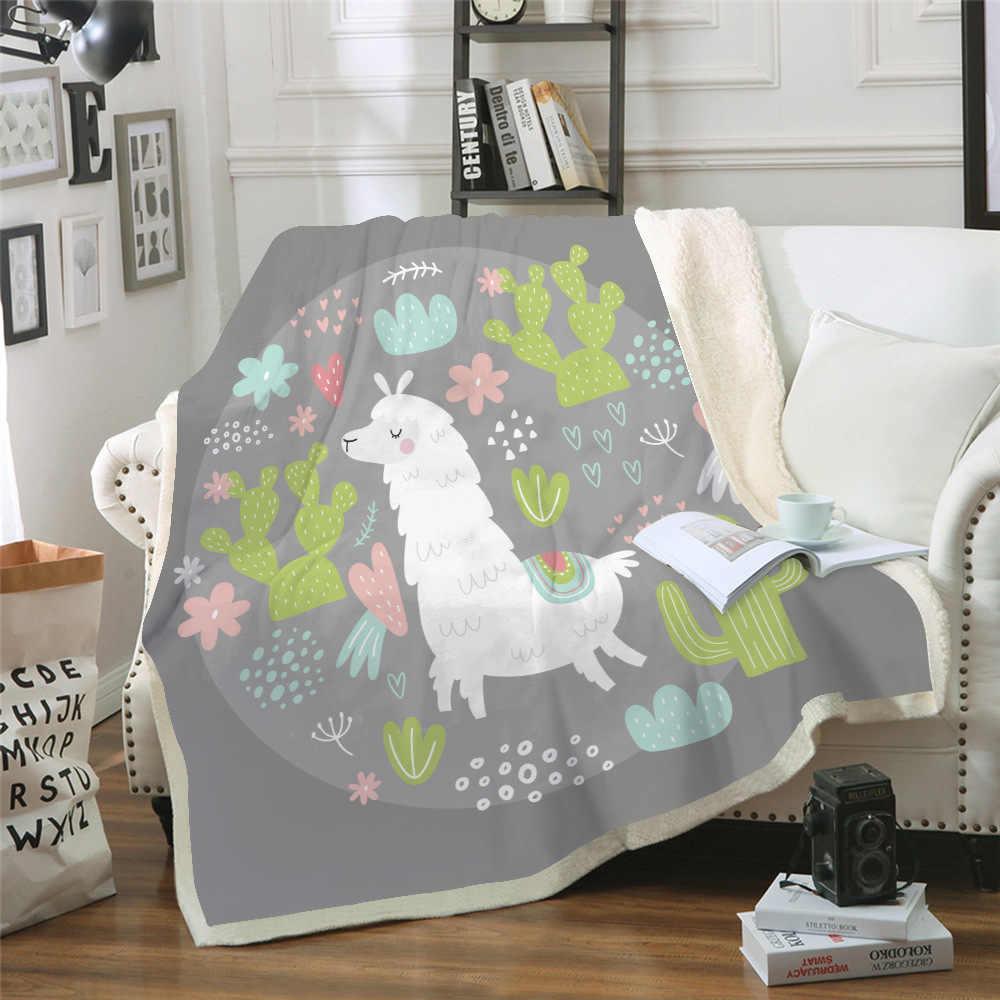 وسادة أريكة اليوغا حصيرة بطانية مكيف الهواء بطانية سميكة طبقة مزدوجة أفخم 3d الرقمية الطباعة بطانية لطيف الألبكة سلسلة
