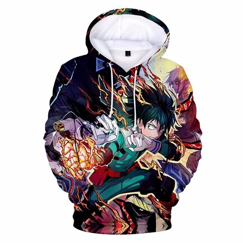 My Hero Academia 3D Printed Hooded College Uniform Girls Boys Spring Autumn Fashion Streetwear Boku no Hero Cosplay Sweatshirt