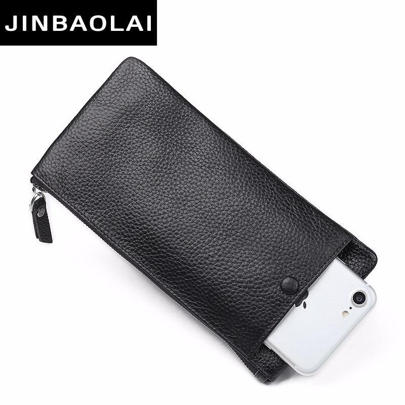 JINBAOLAI New Design Äkta Läder Plånbok För Män Mans - Plånböcker - Foto 1