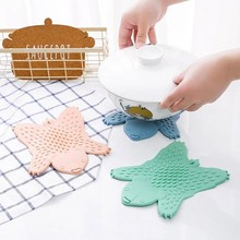 Cartoon Insulated Bear Bowl Mat Table Coffee Plastic Non-slip Pot Cute Home Decoration Supplies