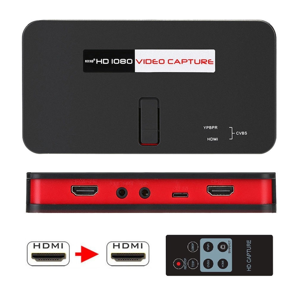 Game Capture Card HD Video 1080P Live Streaming PS4 PS3 HDMI Capture Box  Online Stream Real-time Mic Audio Record Recorder Ezcap