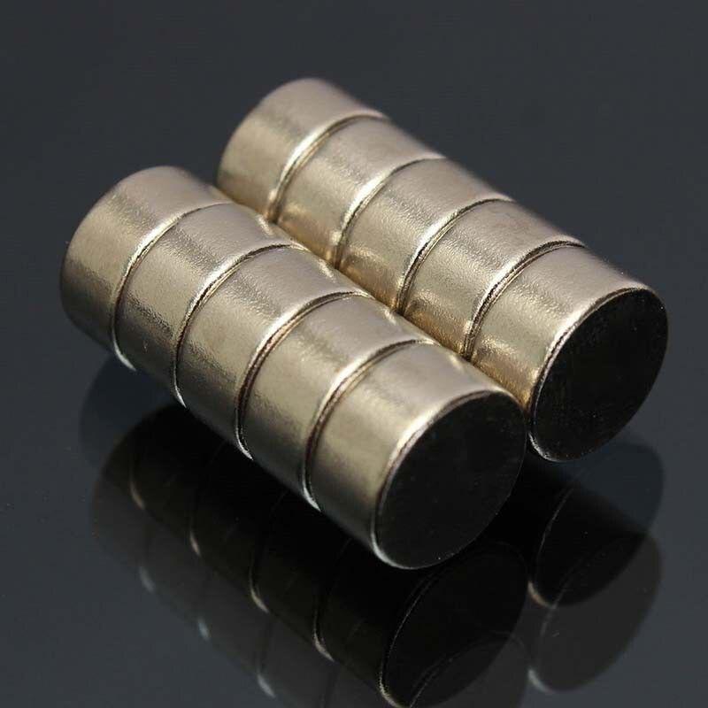 CNIM Горячие 10 шт. Супер Сильный цилиндр Круглый Редкоземельные неодимовые магниты на холодильник N52 10 мм x 5 мм