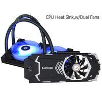 240VGA RGB вентилятор водяного охлаждения интегрированный процессор кулер радиатор с двойные вентиляторы для видеокарты GeForce/AMD