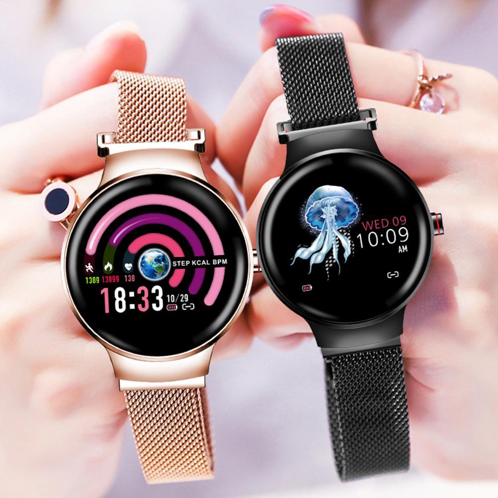 Montre imperméable d'écran tactile de couleur de traqueur de forme physique de Bluetooth avec le Bracelet intelligent de suivi de période d'activité de fréquence cardiaque de toute la journée