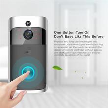 Campainha de porta inteligente sem fio, 2.4g rf, campainha, wi fi, câmera visual, alarme antifurto, casa de segurança para casa campainha da porta do carrilhão