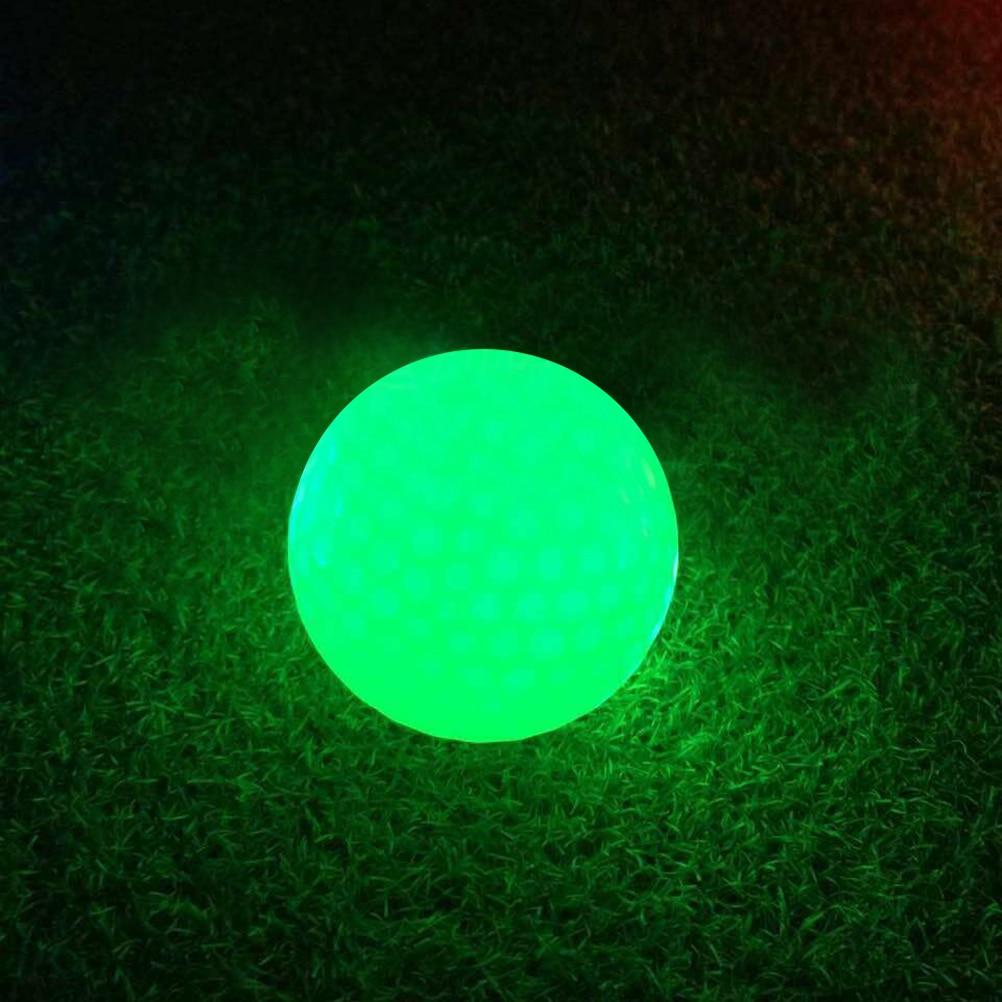 4 Pcs Luminous Night Golf Balls LED Light Up Golf Balls Glow In The Dark Bright Long Lasting Reusable Night Golf Ball 4 Colors