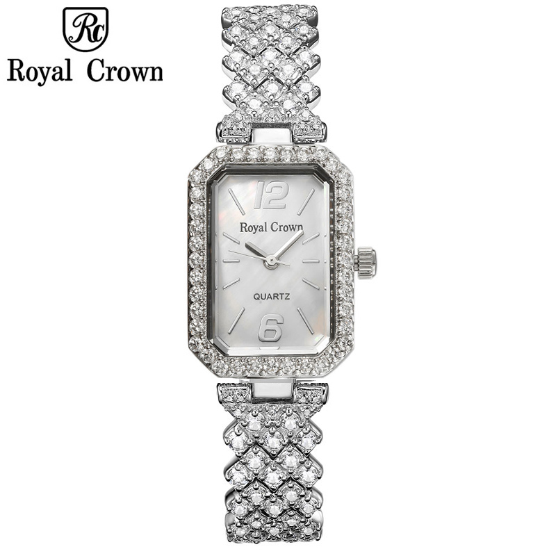 Royal Crown Mother-of-pearl Lady Womens Watch Japan Quartz Fashion Fancy Dress Bracelet Luxury Crystal Girls Birthday Gift BoxRoyal Crown Mother-of-pearl Lady Womens Watch Japan Quartz Fashion Fancy Dress Bracelet Luxury Crystal Girls Birthday Gift Box