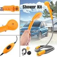 2.5 L/M Portable 12V Electric Car Plug Outdoor for Camper Caravan Van Washer Tools Bathing Camping Travel Shower Pump Pipe Kit