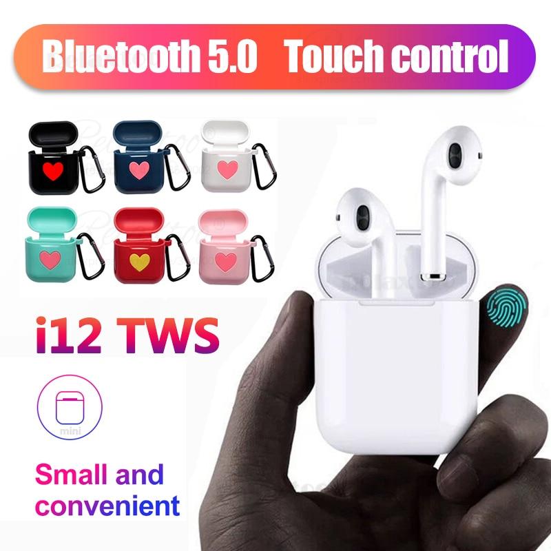 $27.99 New i12 TWS Mini 5.0 Sports Bluetooth earphones Earphones 3D Sweatproof Wireless For iphone X xiaomi Binaural call Headset Cases