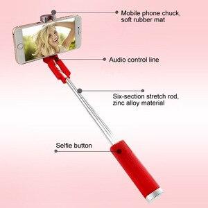 Image 4 - Lippenstift Selfie Stick Mini Selbstauslöser Stange Draht Monopod Teleskop Artefakt Selbstauslöser Hebel Für Handy Universal