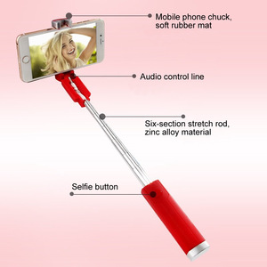 Image 4 - Lipstick Selfie Stick Mini Self Timer Rod Wire Monopod Telescopic Artifact Self Timer Lever For Mobile Phone Universal