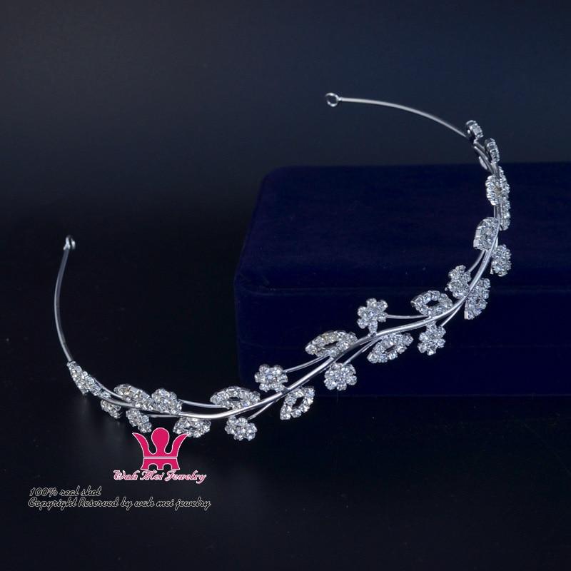 Rhinestone Headband Hair Accessories Bridal Wedding Tiaras Crowns Garland Princess Flower Pretty Girls Greece Party Performance