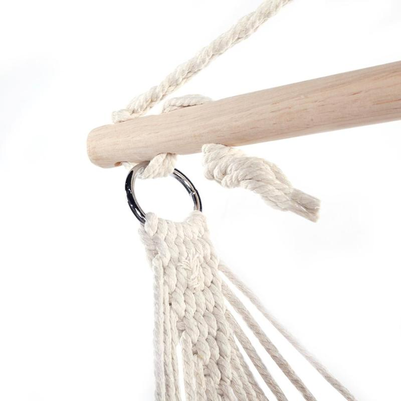 Light Cotton Rope Hammock Net Swing Hanging Chairs Kids Adults Outdoor Cradles Tool For Outdoor Activities Camping Picnic