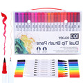 12/18/24/36/48/72/100PCS Colors FineLiner Drawing Pen Painting Watercolor Art Marker Pens Dual Tip Brush Pen School Art Supplies