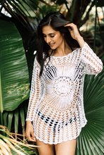 2019 Crochet Sun Protection Clothing Sexy Hollow Out Swimsuit Cover Fashion Loose Beach Wear Women T-shirt Solid Knitting Tee цена 2017