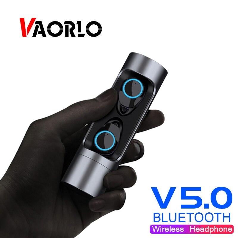 Nouveau TWS Bluetooth Écouteurs 5.0 In-Ear Tactile Contrôle TWS Sans Fil Intra-auriculaires Vrai Stéréo Casque Mini Jumeaux Écouteur Avec la Banque D'alimentation
