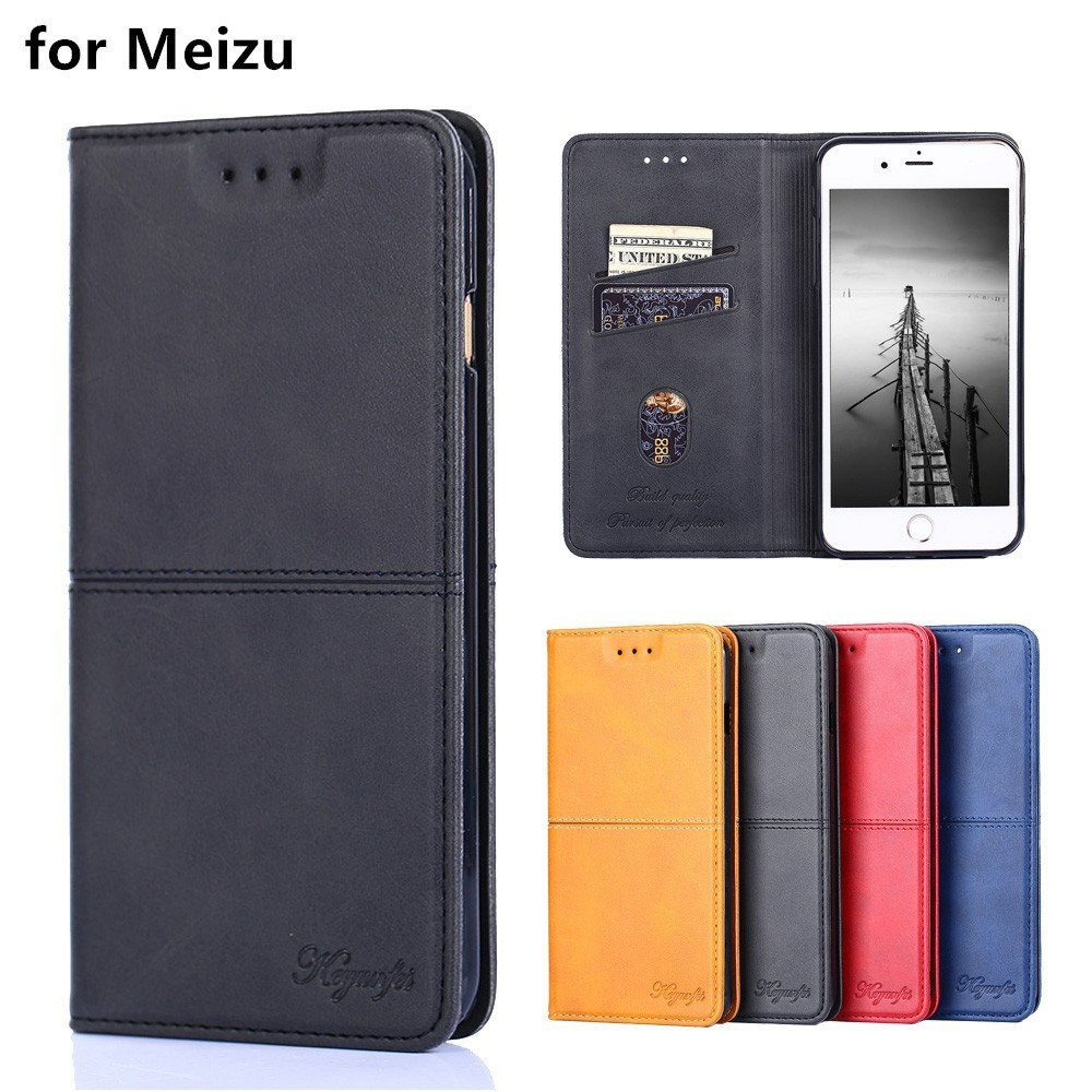for Meizu M2 M3s M3 Mini M5 M6 M6S M8 Lite Note 9 case Luxury Leather Flip cover Stand Card Slot magnets Business style Cases