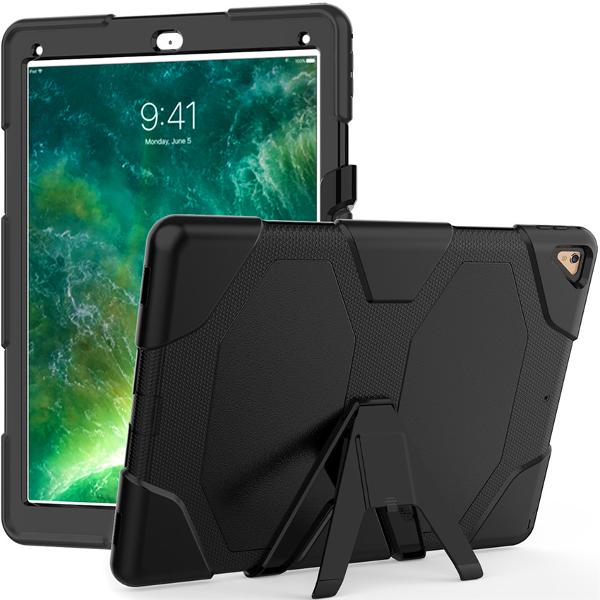 For Apple iPad Pro 12 9 2015 2017 Tablet Shockproof Hard cases Military Heavy Duty Silicone Rugged Stand Protective hard Cover in Tablets e Books Case from Computer Office