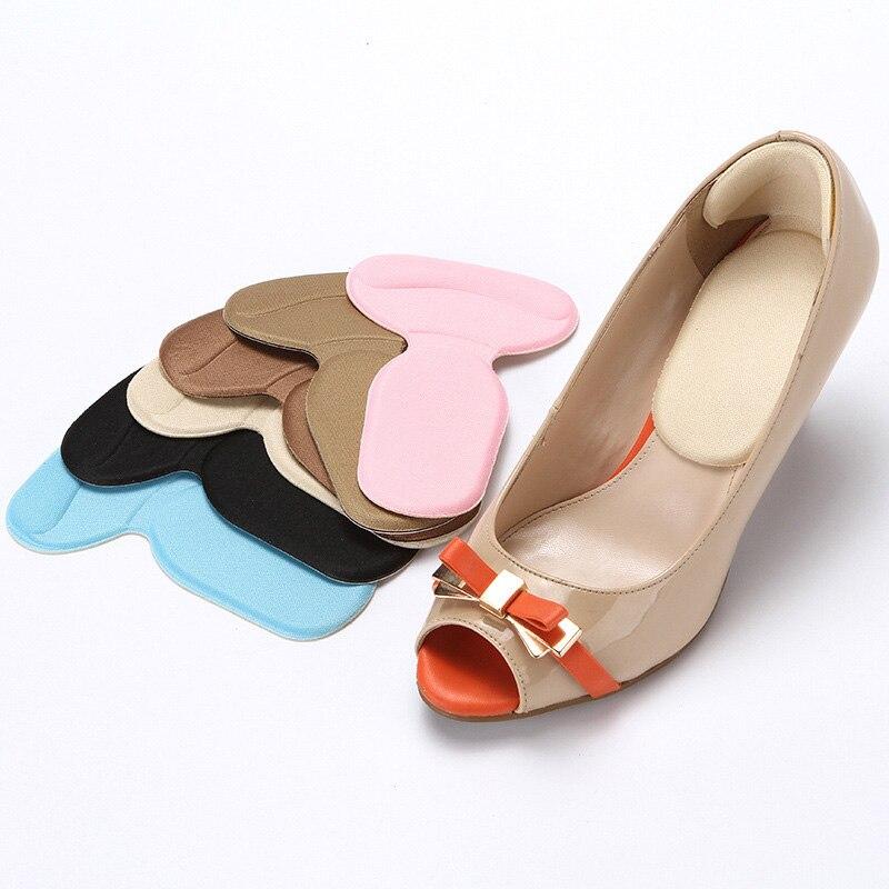 Durable T-Shape Thread Thicker Rear Foot Wear Sticker High Heels Soft Anti-slip Inserts Shoe Accessories