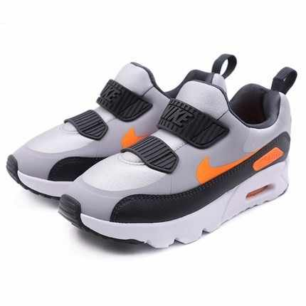 Nike AIR MAX TINY 90 Children Magic Subsidies Light Motion Boy And Girl Casual Shoes Running Sneakers #881927-009