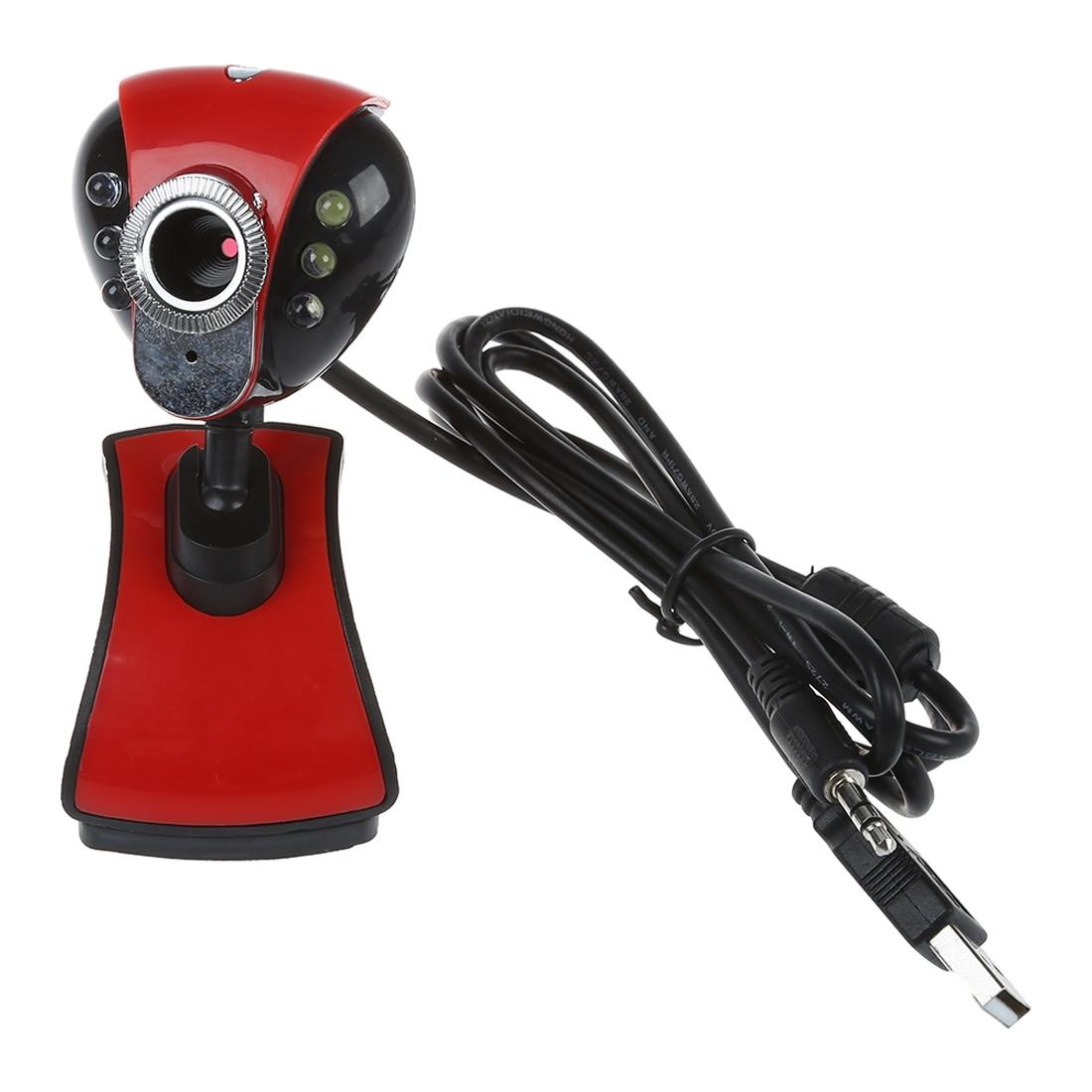 Computer & Büro Usb 2.0 50,0 M 6 Led Pc Kamera Hd 1080 P Webcam Kamera Mit Miniphone Für Computer Pc Laptop Rot Und Schwarz Gute WäRmeerhaltung