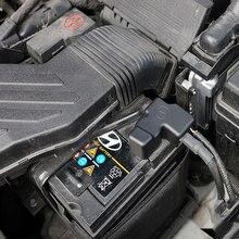 Para hyundai i40 veloster 2012-2018 aslan 2015-2018 bateria de carro proteção negativa capa quadro clipe caso plástico abs adesivo