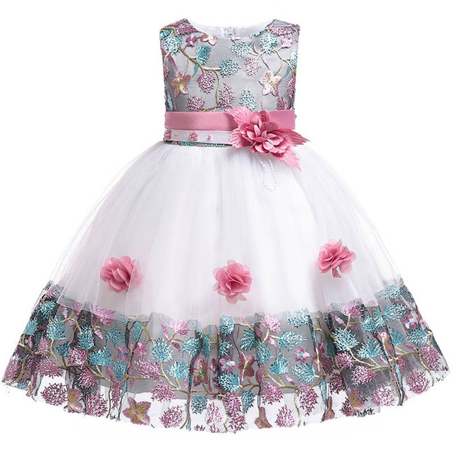 0ce515720eb48 US $16.83 12% OFF|Kids dress 2018 new 3 4 5 6 7 8 years old lace color  matching girl princess party dress summer baby tutu clothes-in Dresses from  ...