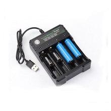 3.7 V 18650 Lader Li Ion Batterij Usb Onafhankelijke Opladen Draagbare Elektronische Sigaret 18350 16340 14500 Batterij Lader