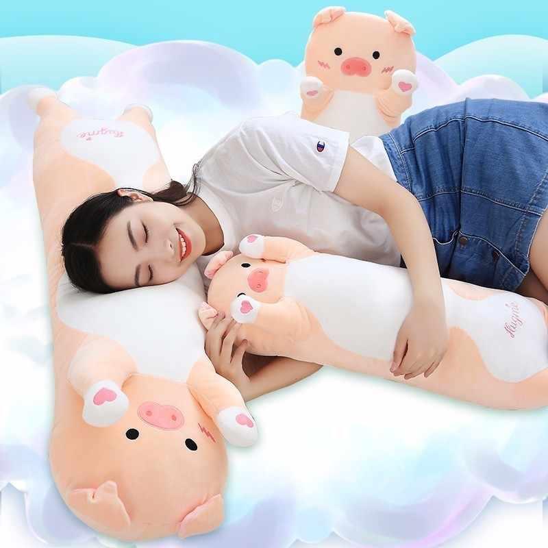 VOZRO Милая свинья плюшевая игрушка кукла Спящая Длинная Шея подушка для тела для путешествий, чтобы отправить подарок девочке пол Coussin Enfant Almofadas Overwatch