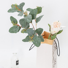 Fake Plant Artificial Leaf Bouquet Green Real Touch Spray Branch DIY Eucalyptus Garland Wedding Party Decorations