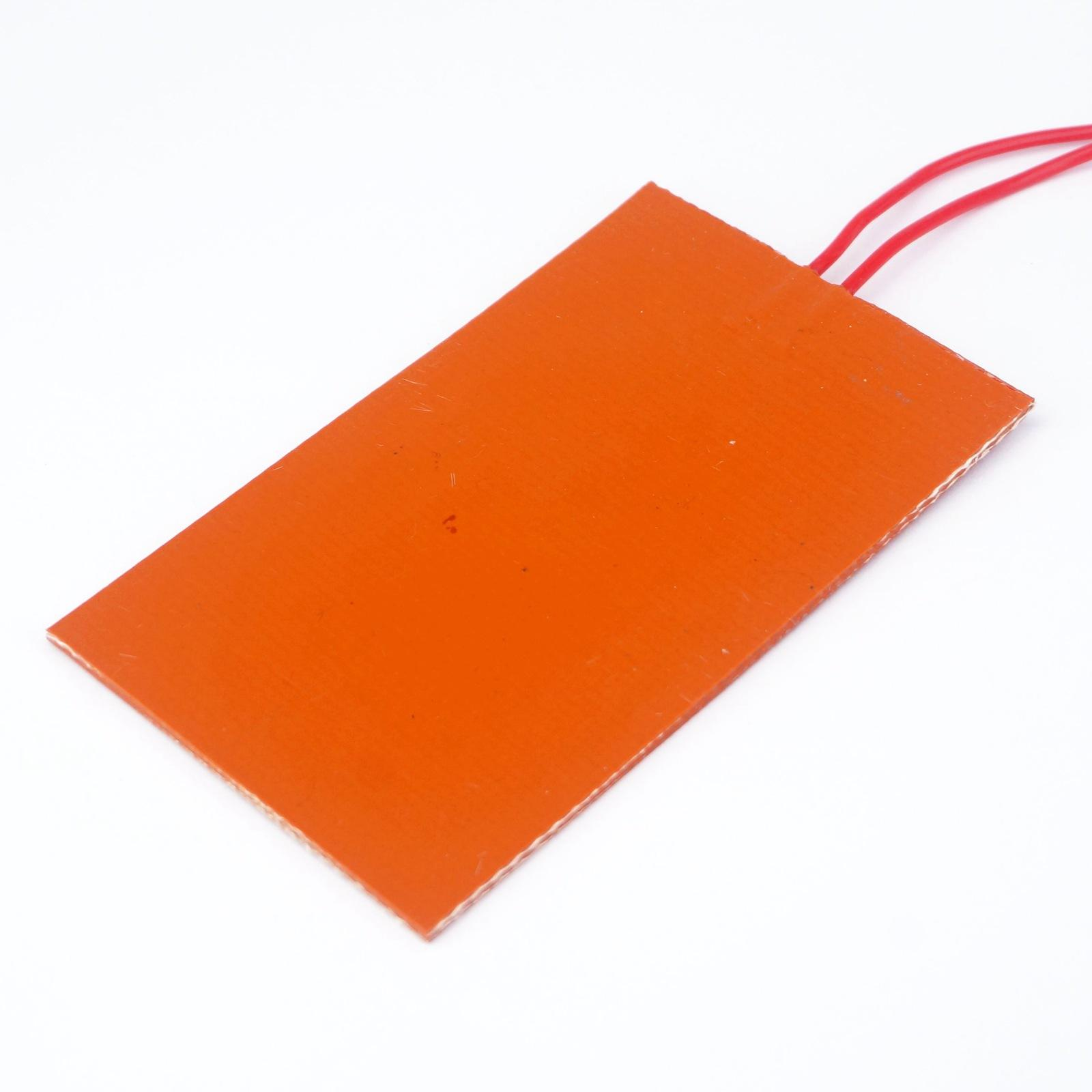 12V DC 60x100mm 5W Rectangle Flexible Waterproof Silicon Heater Pad For  Oil Tank