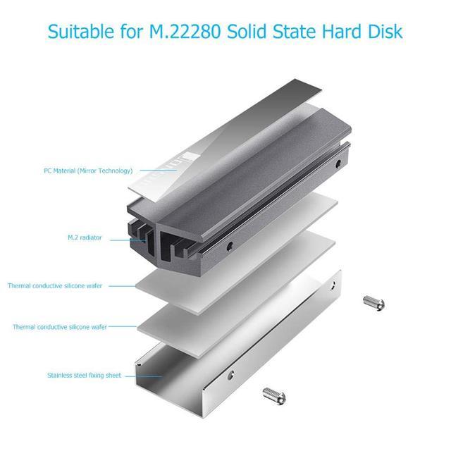 Jonsbo M.2 Ssd Aluminum Heatsink Cooler For M.2 2280 Solid State Hard Disk Radiator 2