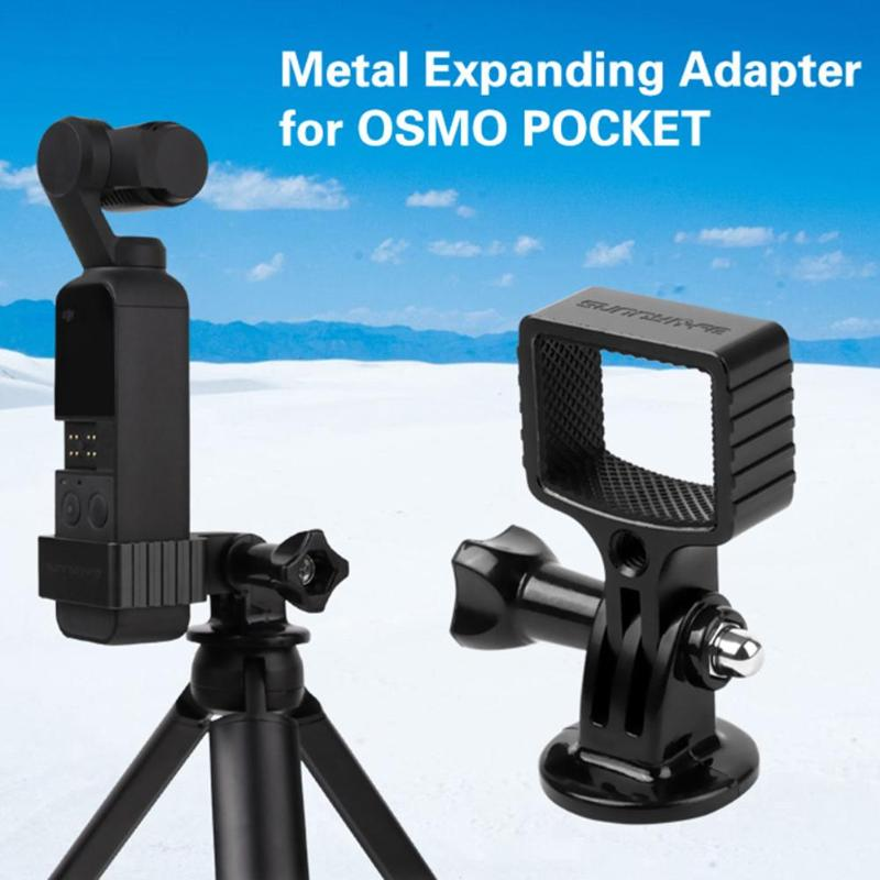 Metal Adapter with Tripod Stand Holder for DJI OSMO Pocket Gimbal Camera Excluding other mobile phones rubber protection