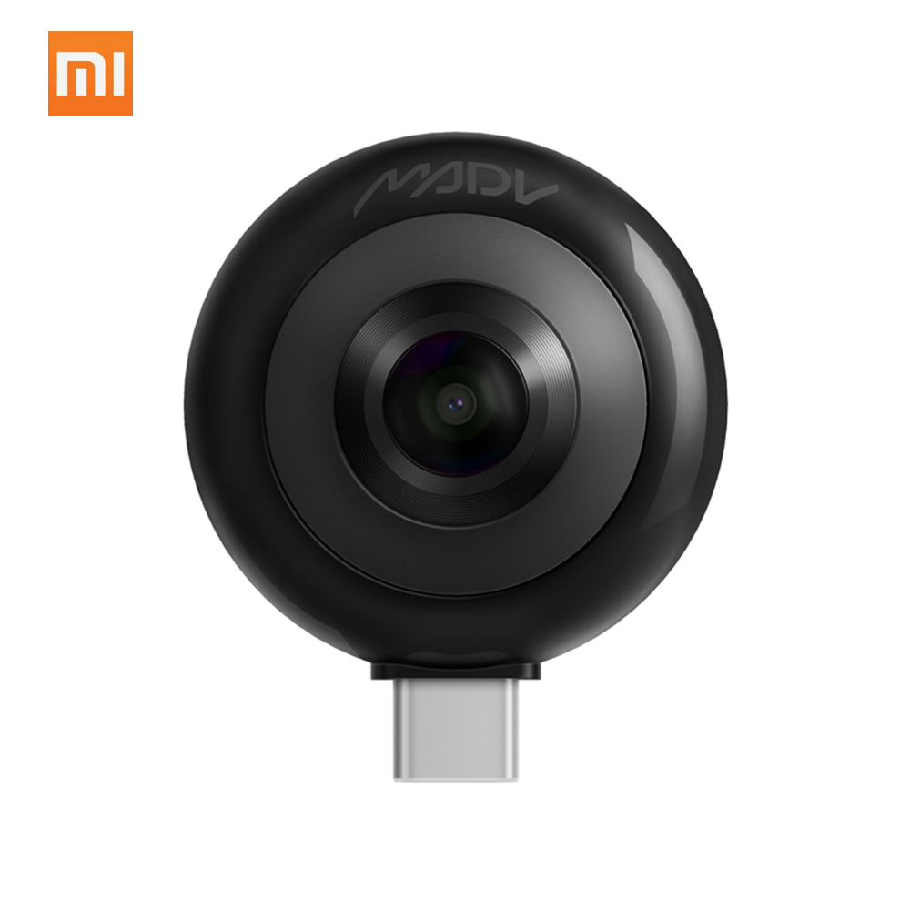 Xiaomi MADV Mini Camera 13MP 360Degree Panorama Camera 5.5K HD VR CMOS Sensor Live Stream Camera for Xiaomi Huawei Android TypeC
