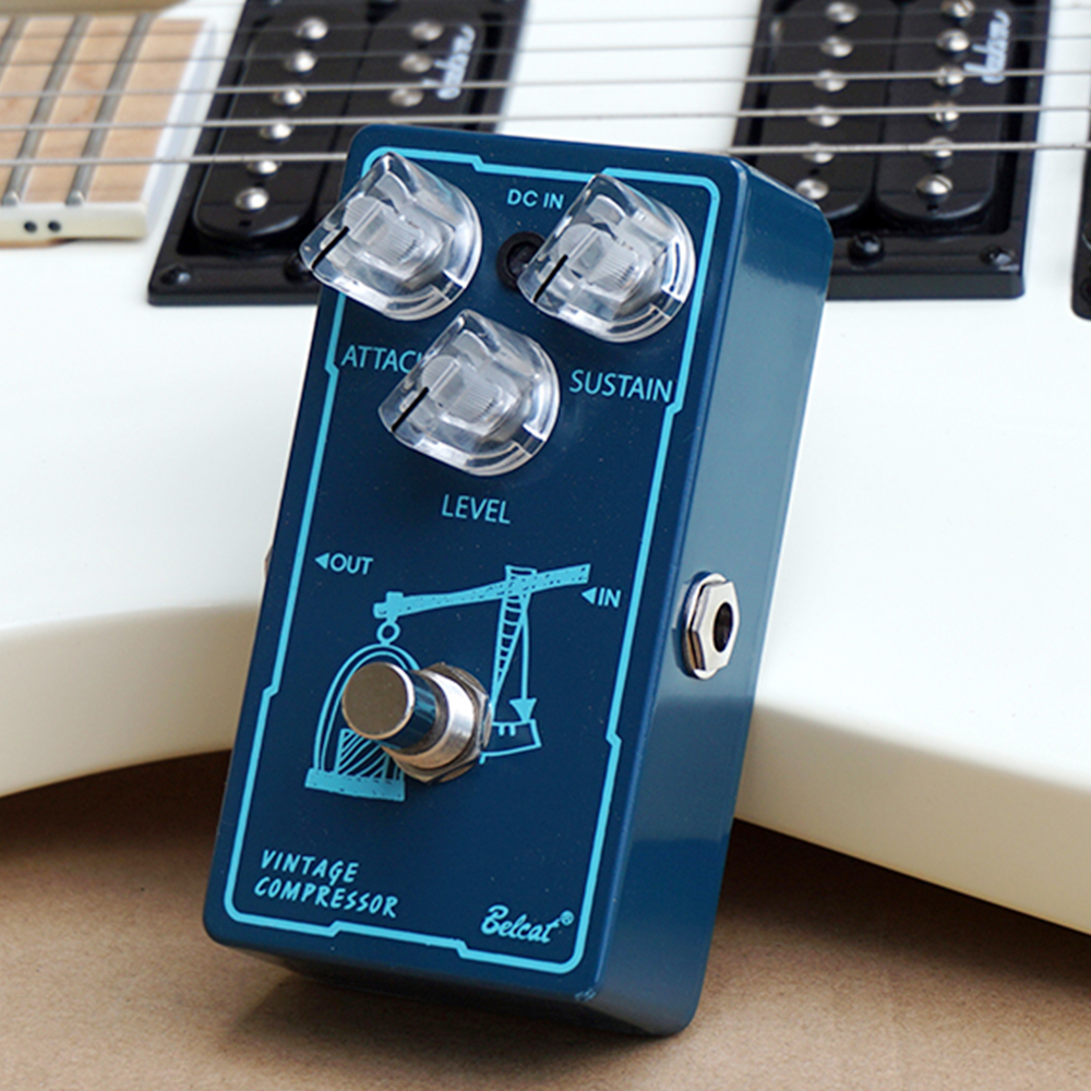 Belcat VINTAGE COMPRESSOR Guitar Effect Pedal with Attack Sustain Level Control Effects Stompbox for Electric Guitar diy handmade compressor effect pedal kit guitar stompbox pedals kit