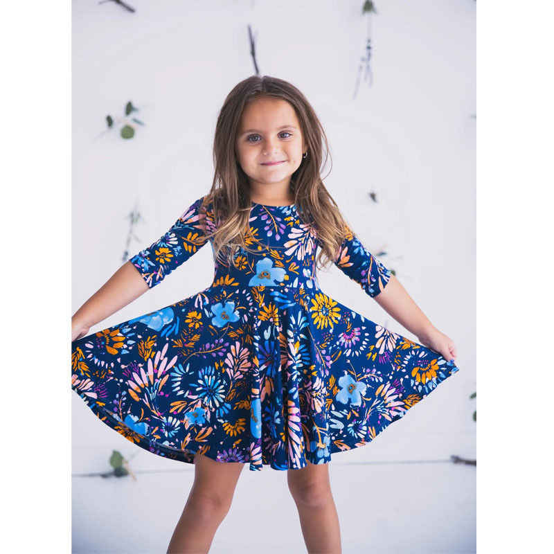 8b3a0248d0 ... Lovely Mother And Daughter Floral Dress Matching Outfits Women Girls  Cute Casual Party Parent-Child ...
