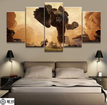5 Panel Extinction 2 Video Game Canvas Printed Painting Living Room Wall Decor Picture Artworks Poster Wholesale