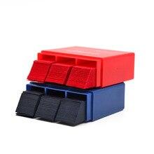 300 лист/коробка Стоматологическая артикуляционная бумага полоски красный/синий двухсторонняя бумага для укуса 55*18 мм красный/синий отбеливание зубов материал для стоматолога