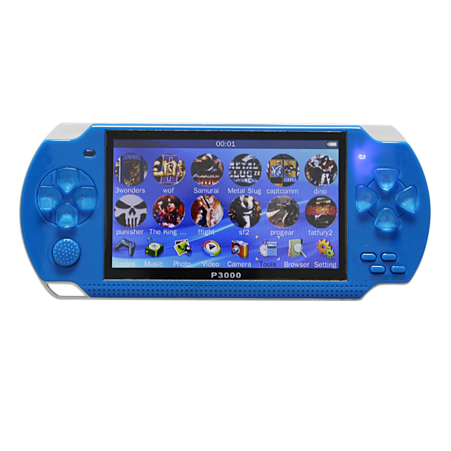 IG-4.3inch Handheld Game Console 8Gb Portable Video Game Built-In 10000 Free Classic Games Support Mp34 US Plug