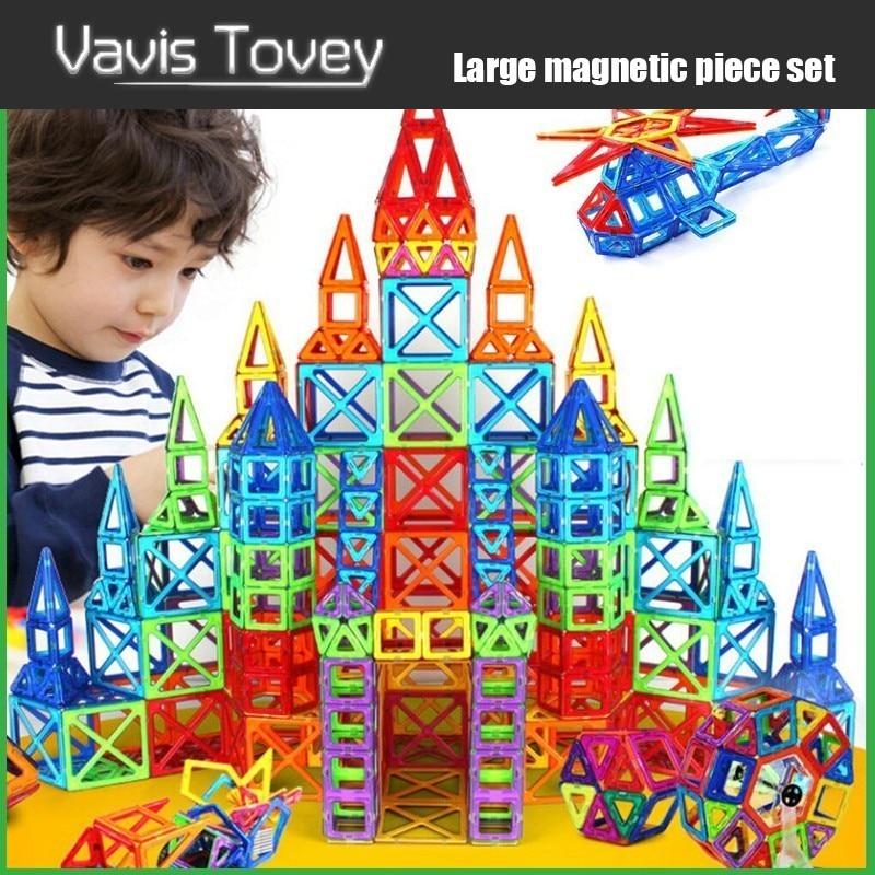 Vavis Tovey 30 200pcs Magnetic Designer Constructor Blocks Boys Girls Magnent Construction Building Toys Children Gift