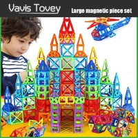 Vavis Tovey 30 200pcs Magnetic Designer Constructor Blocks Boys Girls Magnent Construction Building Toys Children Gift