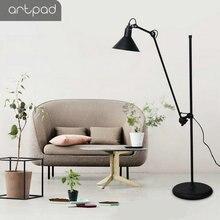 Artpad American Telescope Industrial Floor Lamp for Living Room Office Study Iron UP DOWN LED Adjustable Black Light