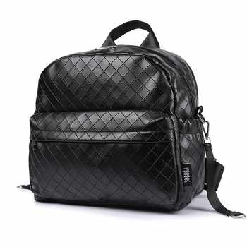 Soboba Black Plaid Large Capacity Diaper Bag Stylish Travelling Baby Stroller Bag Brief Maternity Backpack Fashionable Mommy Bag - DISCOUNT ITEM  0% OFF All Category