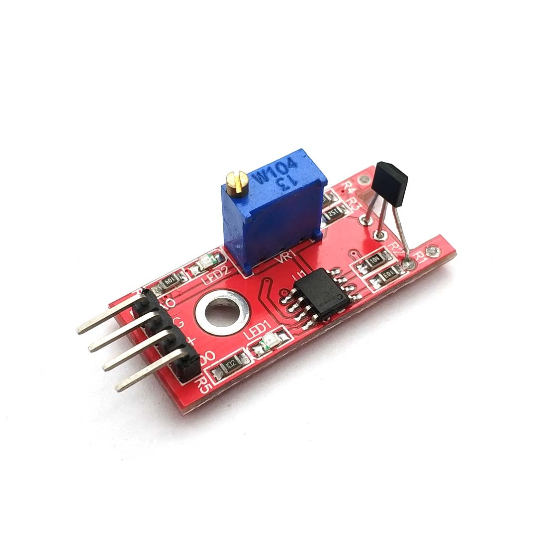 Smart Electronics 4pin Linear Magnetic Hall Switches Speed Counting Sensor Module for DIY Starter Kit
