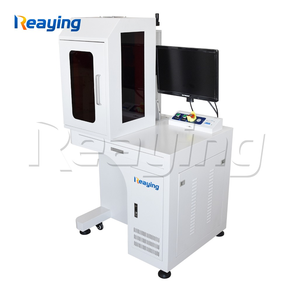 50 Watt enclosed jewelry ring laser marking machine fiber laser engraver machine DIY logo with computer