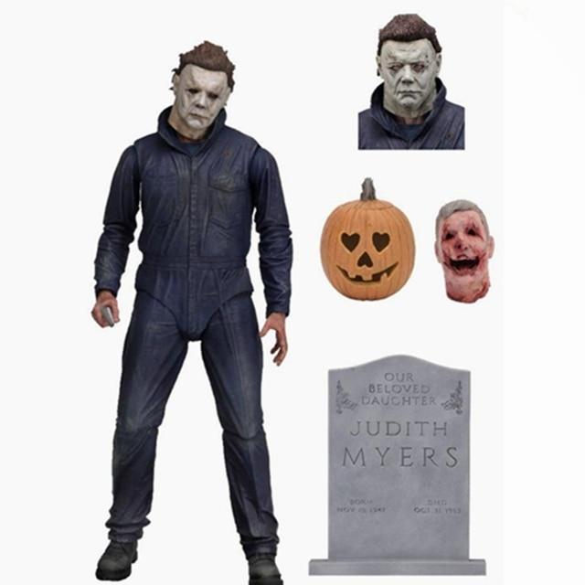 """7 """"original Neca Halloween Final Michael Myers Action Figure Boneca de Brinquedo Modelo Coleção de Brinquedos Figurals Regal"""